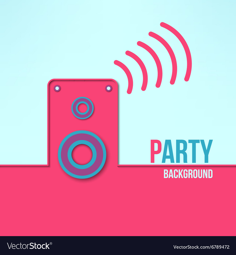 Home party background in modern flat design vector