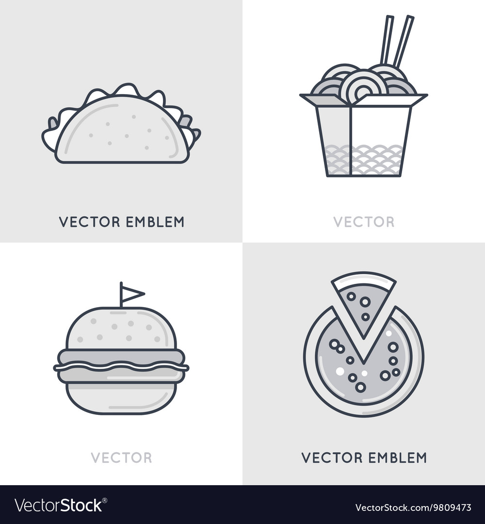 Set of logo design templates and emblems vector