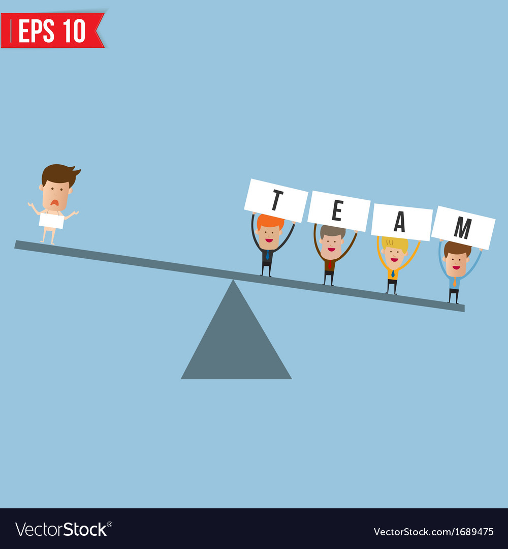 Business man teamwork spirit   eps10 vector