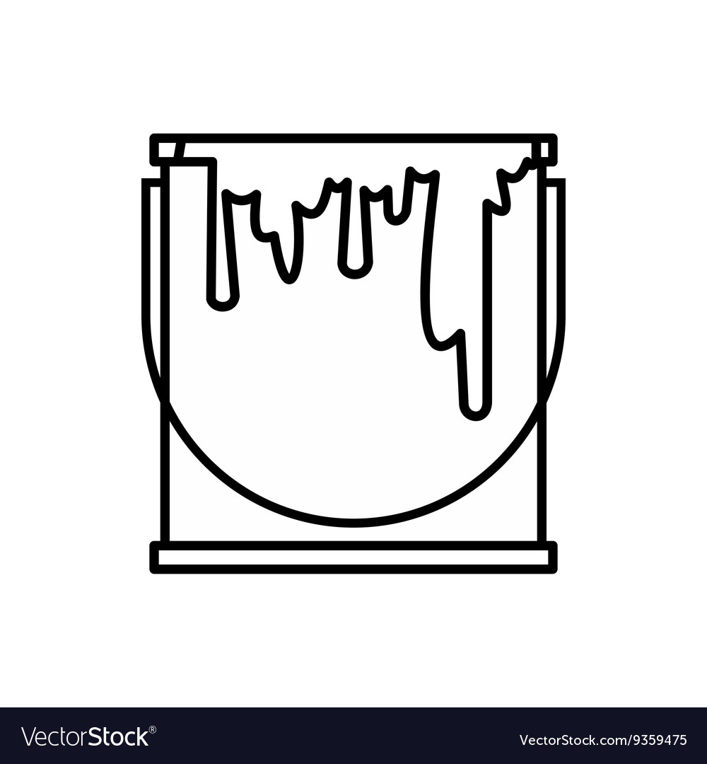 Paint can icon outline style vector