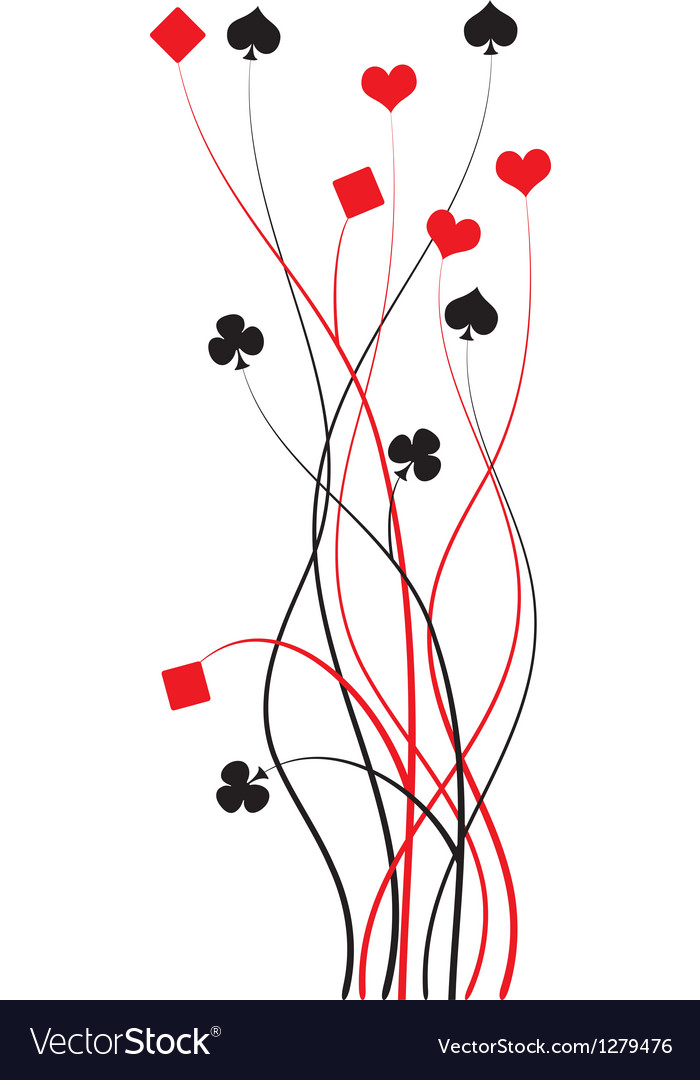 Poker bridge  card game vector