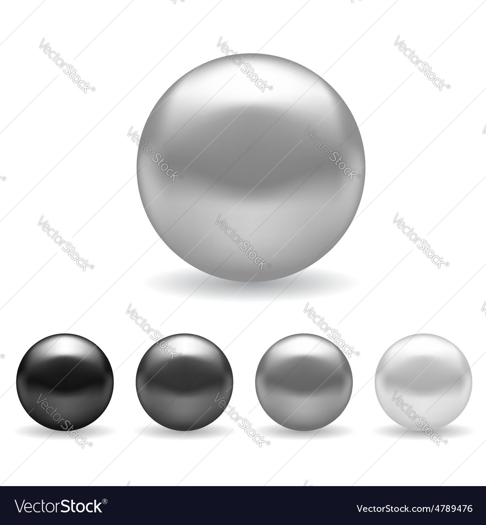 Set of pearls vector