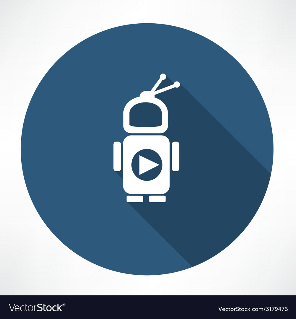 Tv robot vector