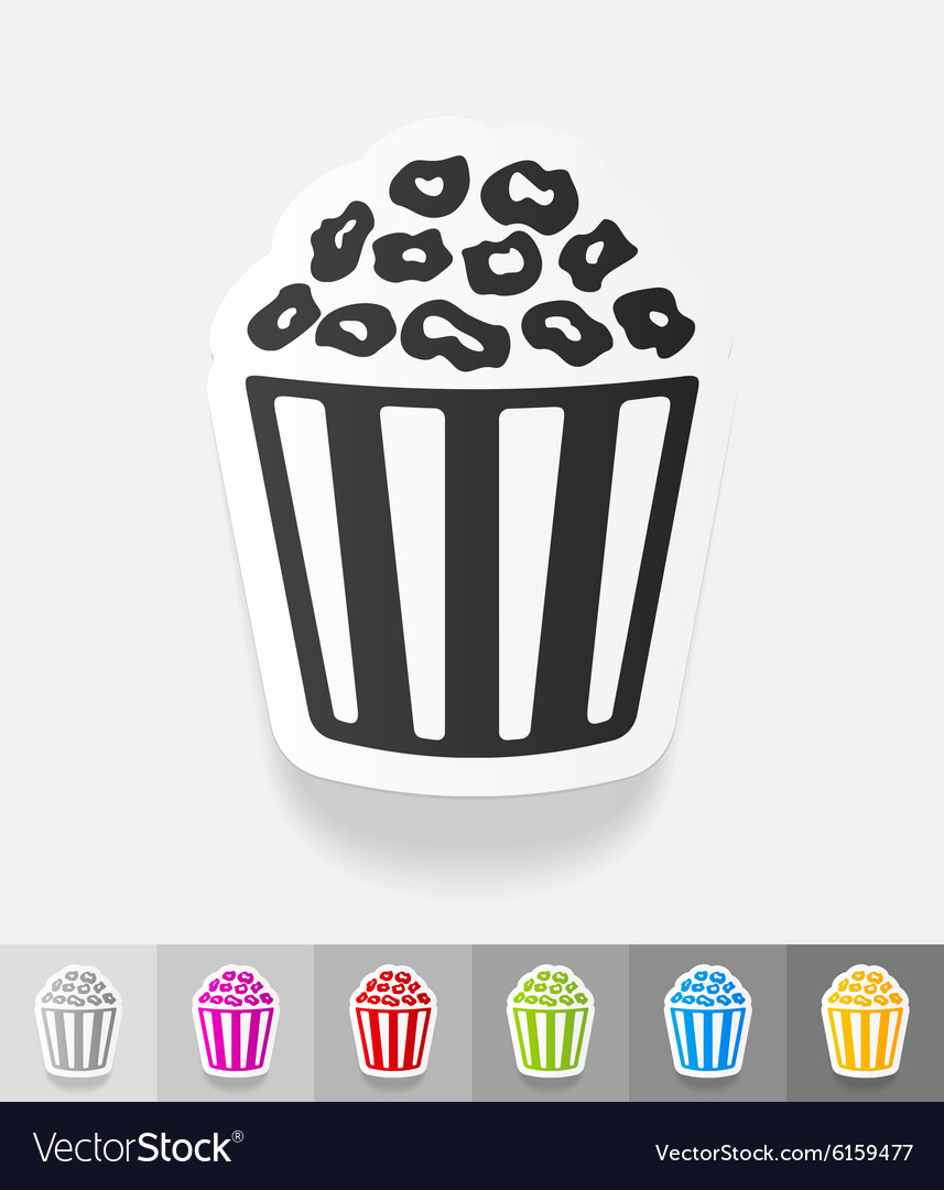 Realistic design element pop corn vector