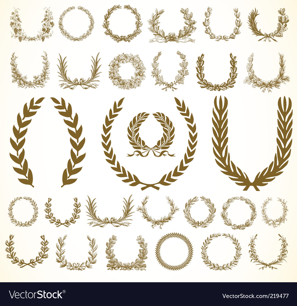 Victory wreaths vector