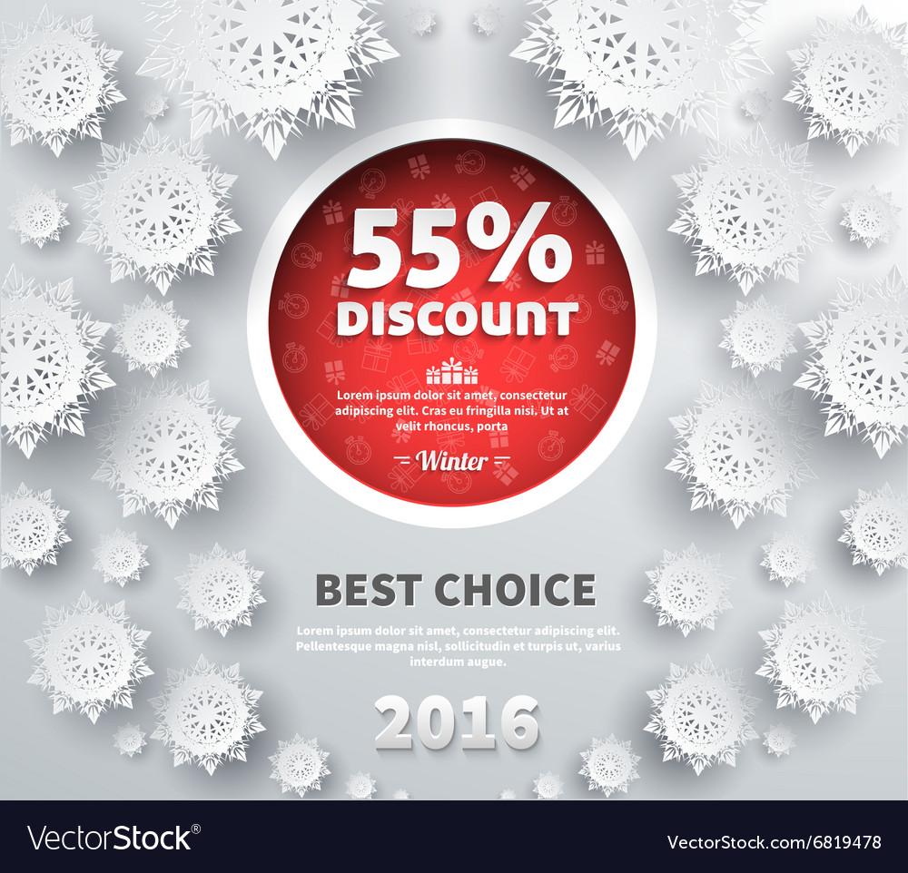 Winter discount best choice design flat vector
