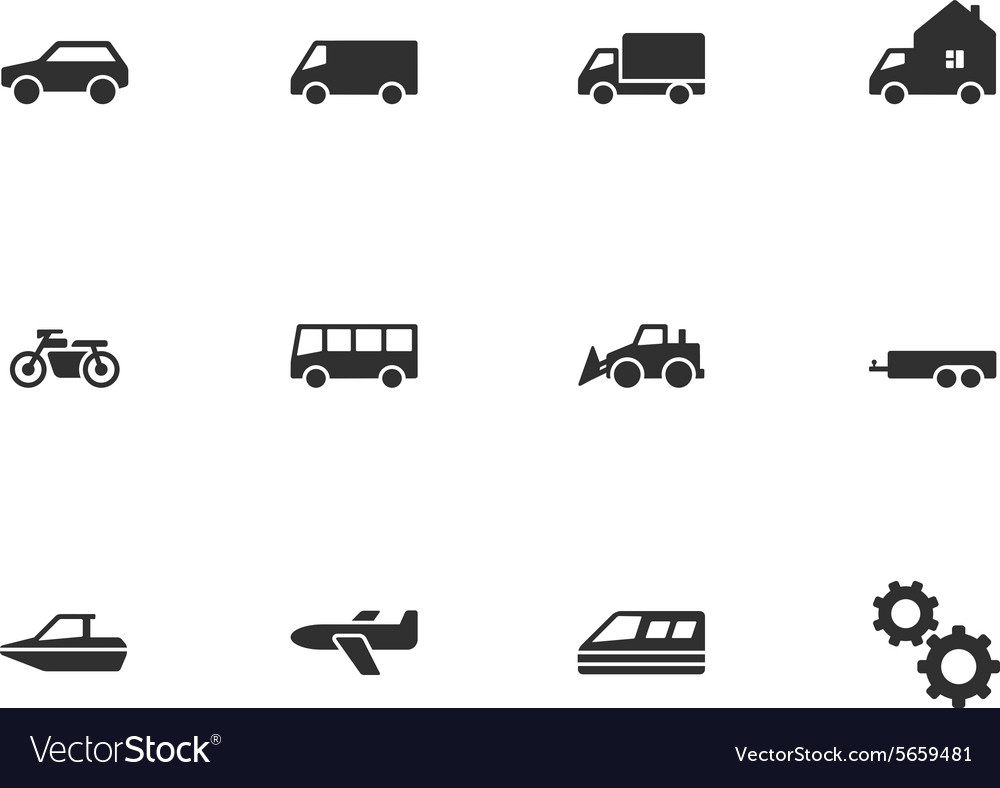 12 transport icons vector