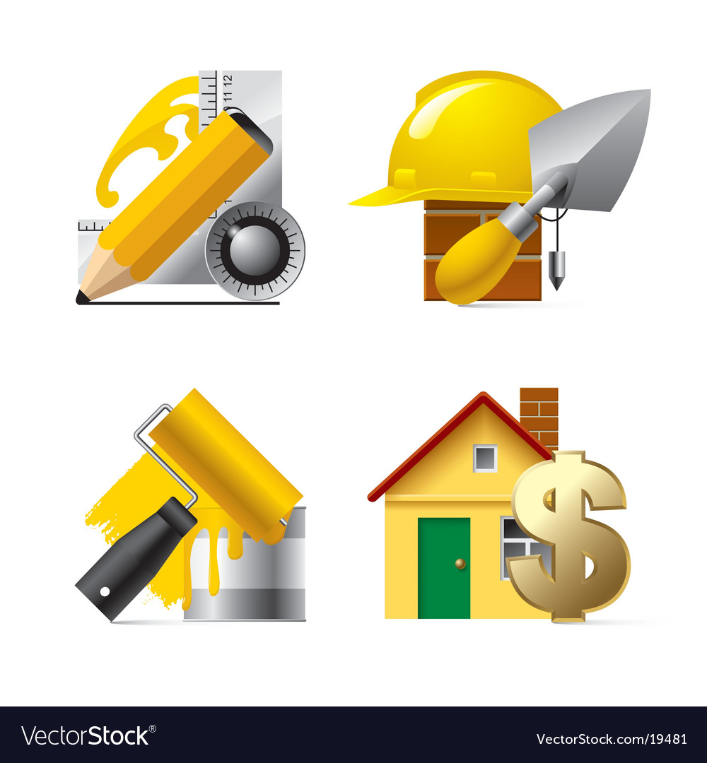 Building website and internet icons vector