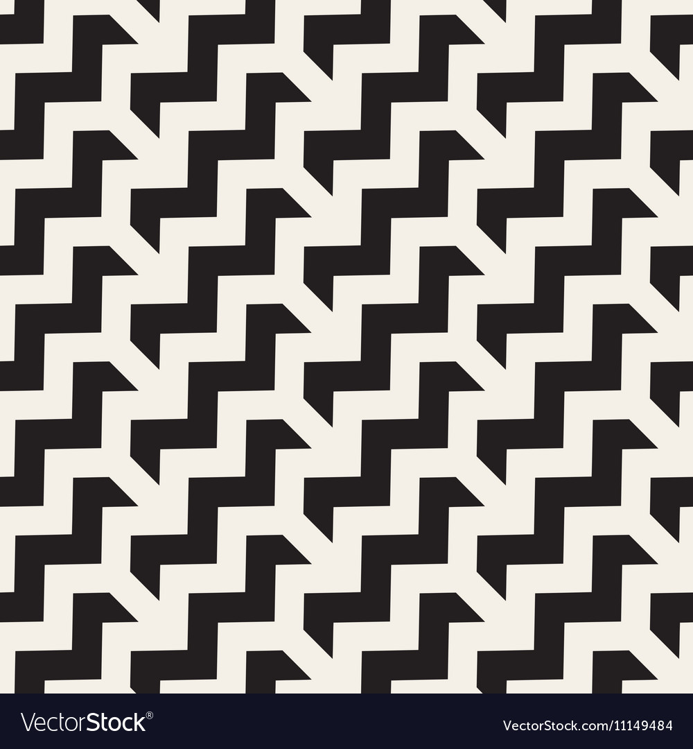 Seamless black and white chevron zigzag vector