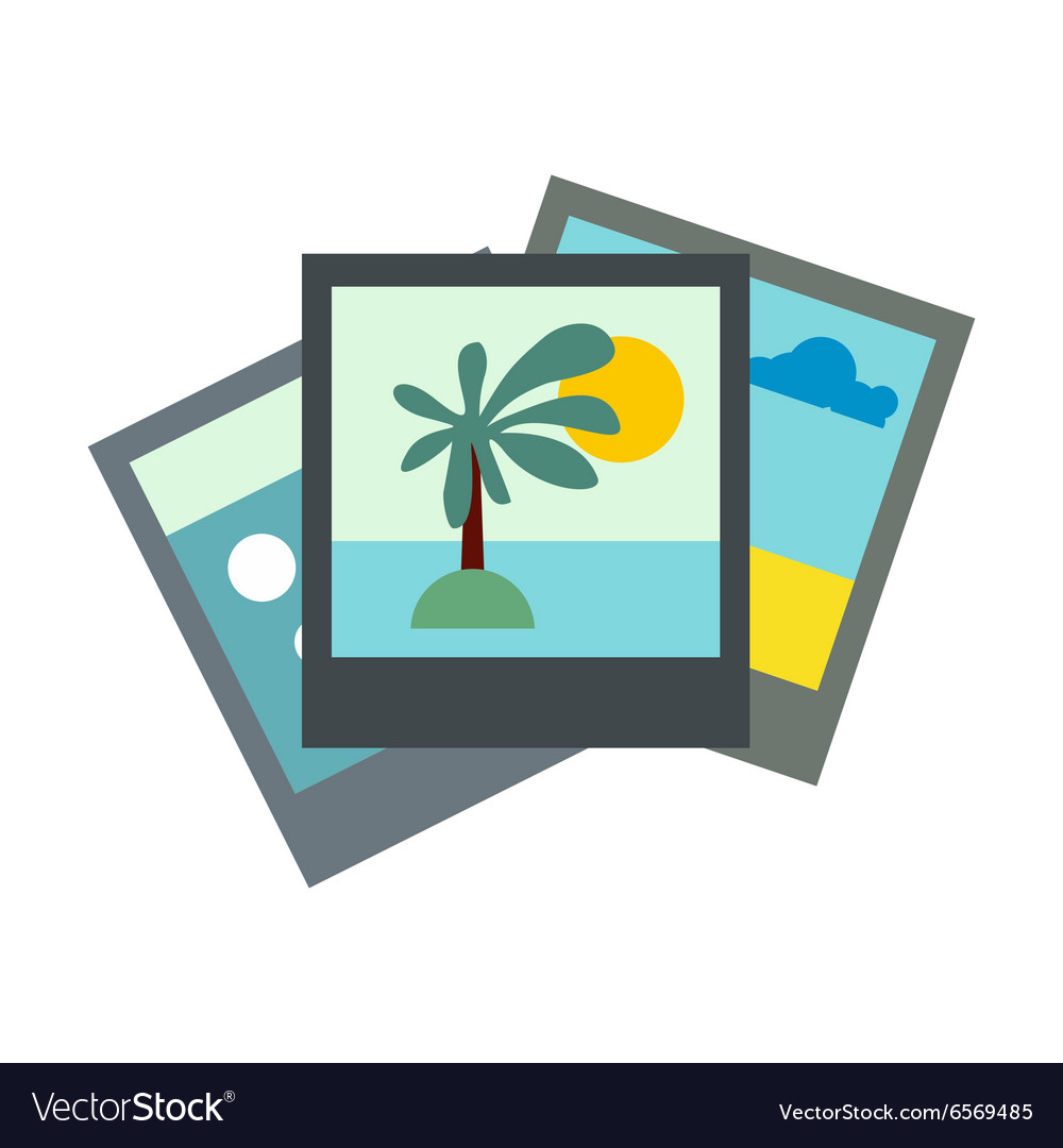 Photo flat icon vector