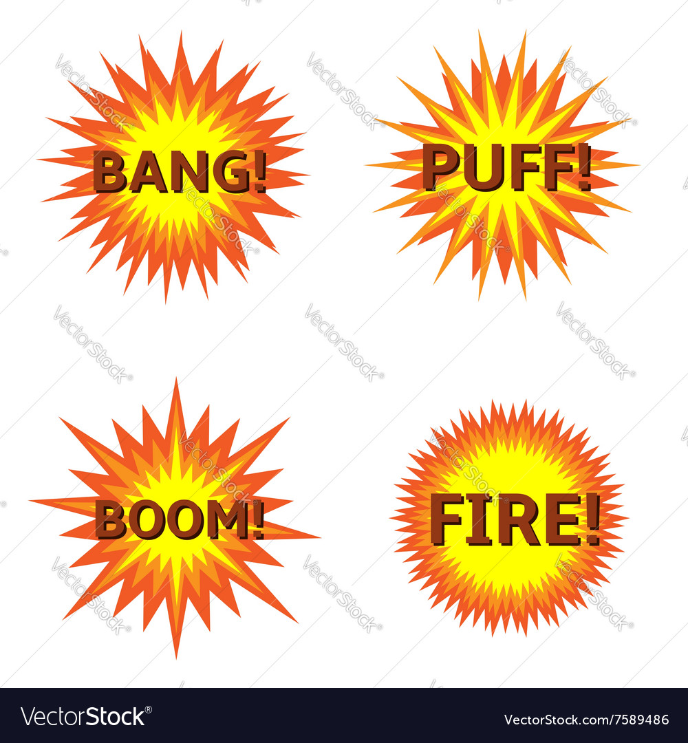 Explosion icon set vector