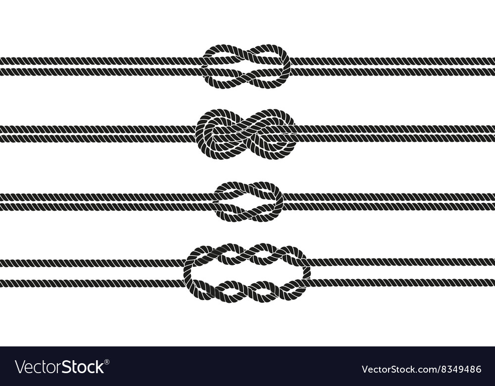 Sailor knot dividers set vector