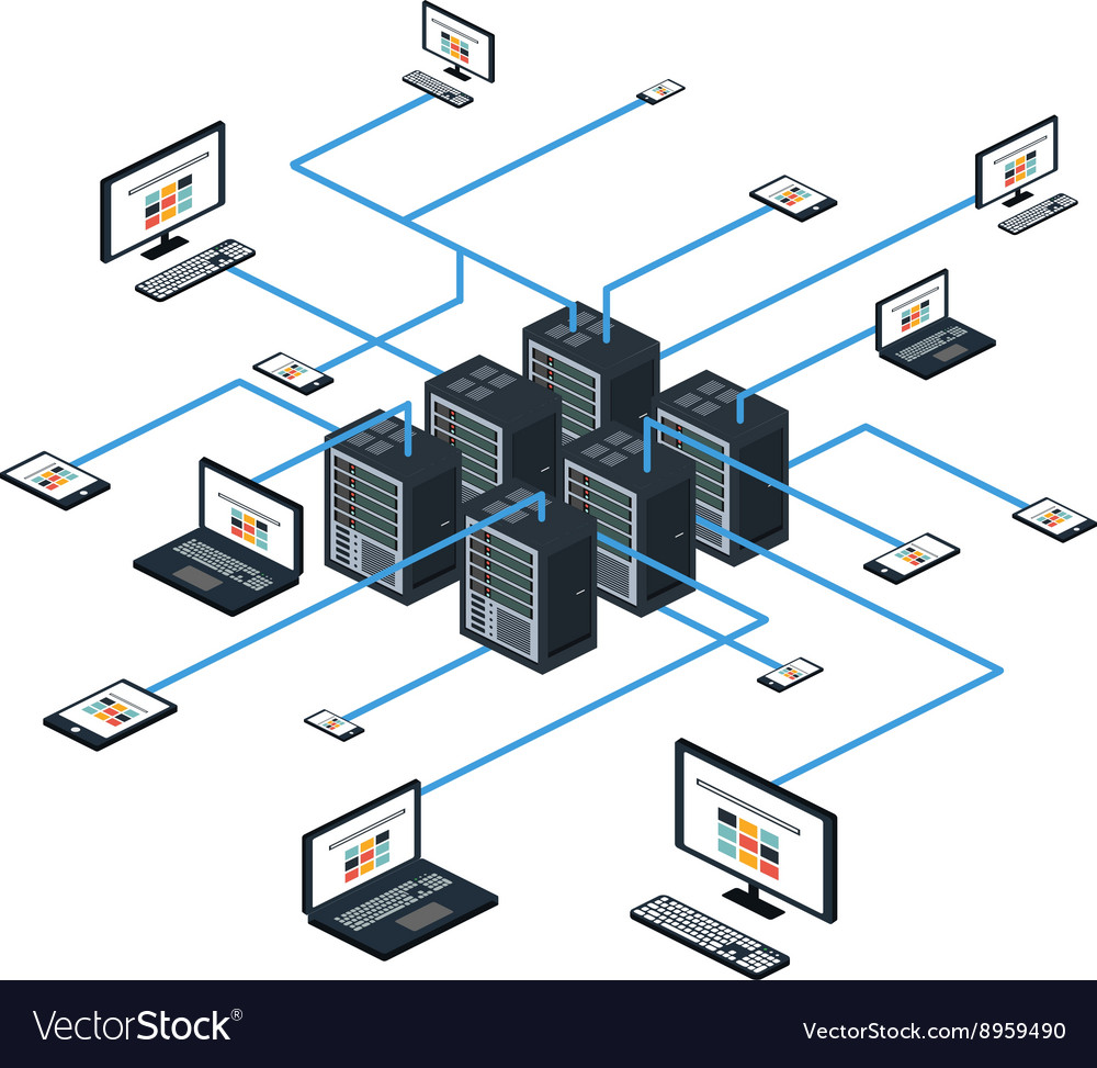 Data isometric set and network elements vector