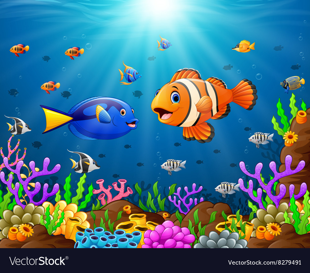 Under the sea vector