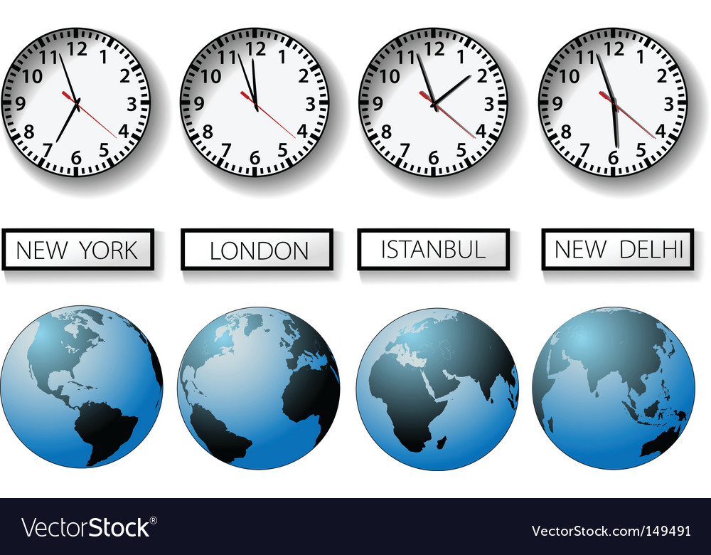 World time zones vector