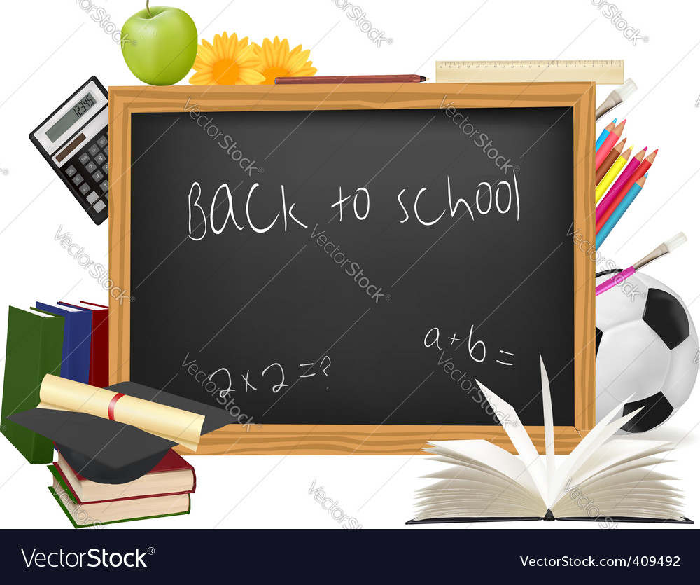 Black board vector