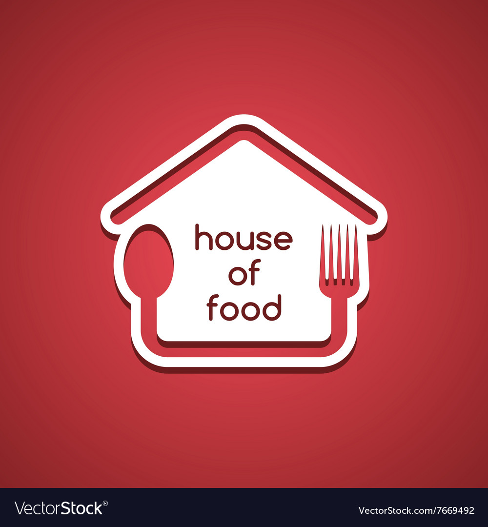 Homemade house food logo template vector