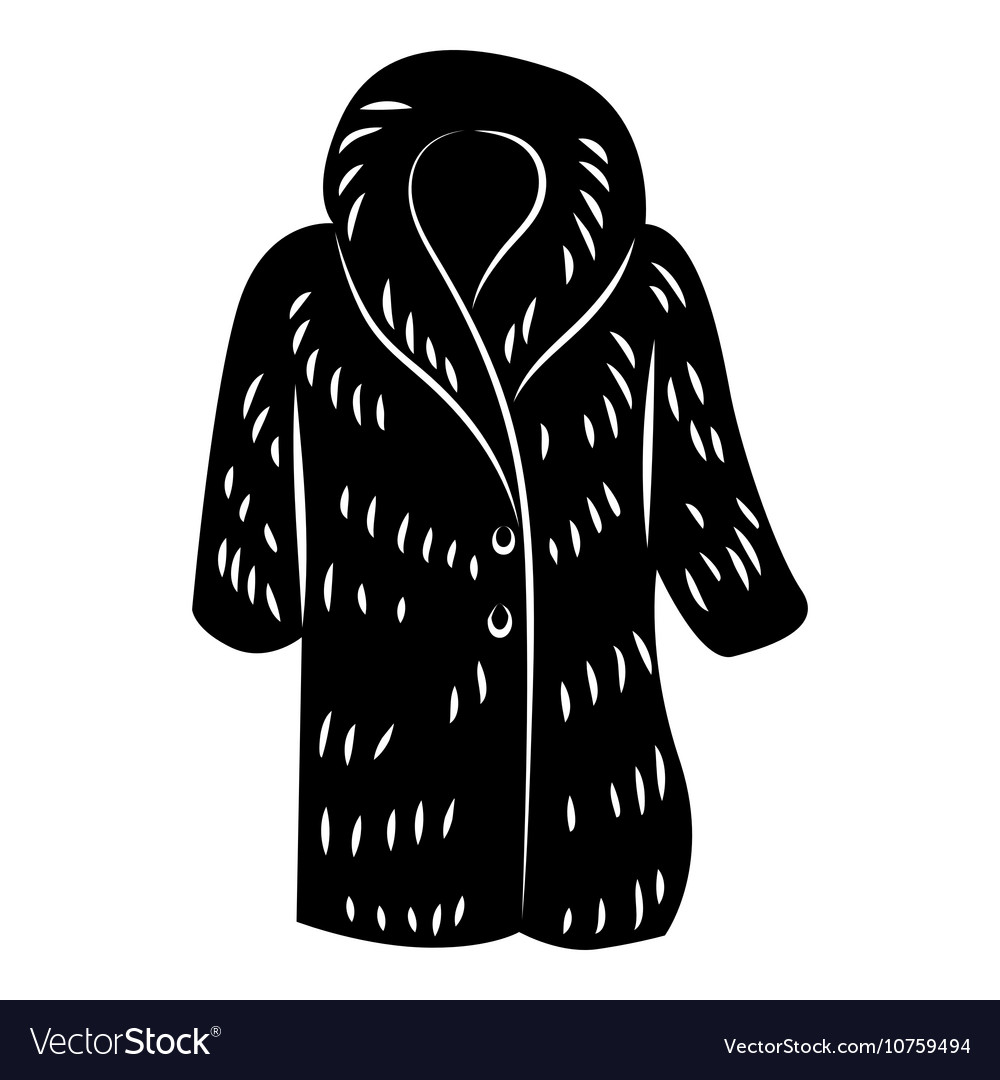 Fur coat icon simple style vector