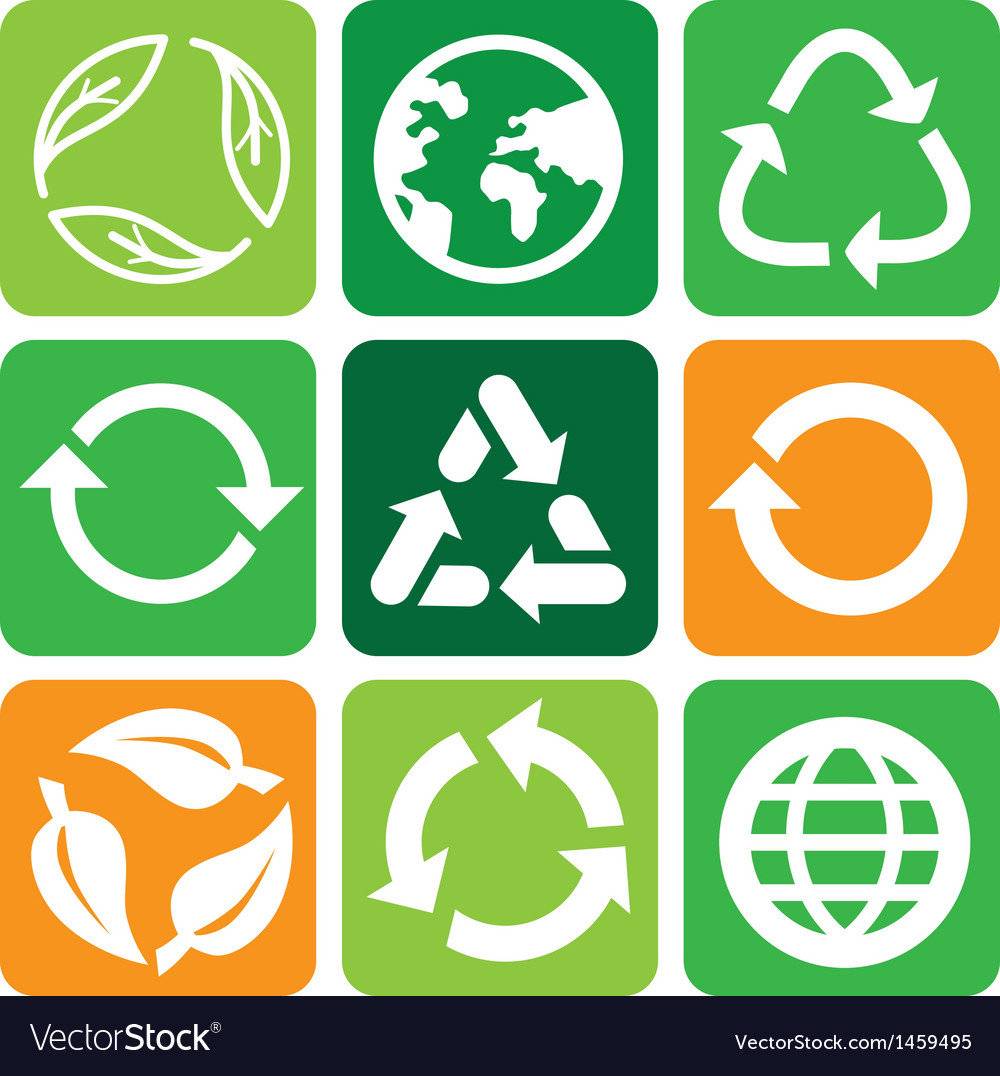 Recycle signs and symbols vector