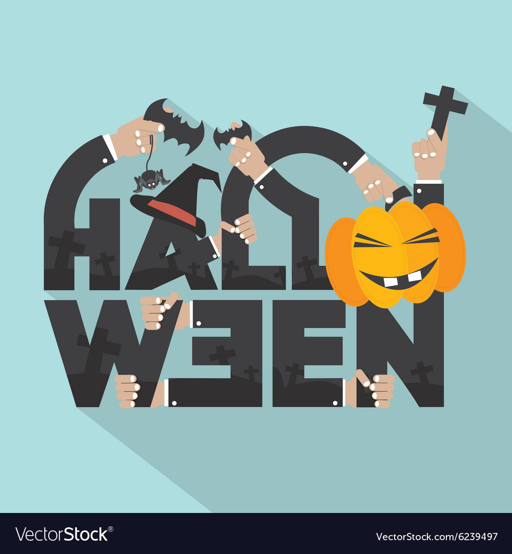 Halloween typography design vector