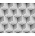 seamless dot pattern cube vector image