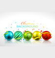 Christmas balls with reflection vector image