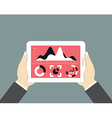 Mobile tablet pc with dashboard Modern user vector image vector image