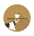 icon coffee on a tray vector image