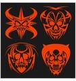 Set of tribal skulls for tattoo vector image