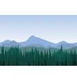 Forest mountain panorama vector image