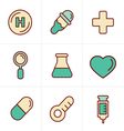 Icons Style Medical Icons Set Design vector image
