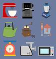 Kitchenware Icons Set vector image