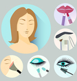 make-up icons vector image