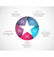 Origami star infographic vector image