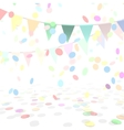 Party Background With a Colorful Confetti and vector image