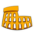 roman colosseum icon cartoon vector image