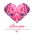 Valentines Day card with decorative stylish heart vector image
