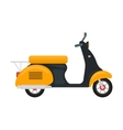 cartoon yellow scooter with an engine vector image