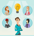 businesswomen discussing business ideas vector image
