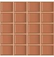 Chocolate tiles seamless texture vector image