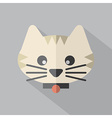 Modern Flat Design Cat Icon vector image vector image