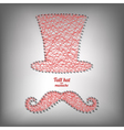 Tall hat and mustache vector image vector image