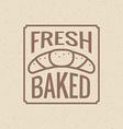 Bakery symbol vector image vector image
