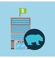 bank building finance bear sell vector image