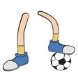 Cartoon foot player vector image