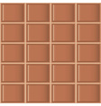 Chocolate tiles seamless texture vector image