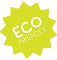 Eco friendly badge simple vector image