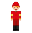 fire fighter character isolated icon vector image