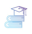 line books object and cap graduation vector image