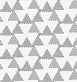 Perforated wavy triangles turned vector image